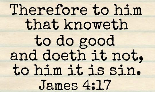 James 4-17